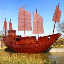 JD-GC001木船模型厂家定做仿古木质帆船