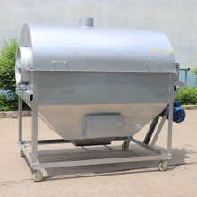 全自動花生滾筒炒貨機 煤炭加熱炒貨機 氣加熱商用大豆炒貨機