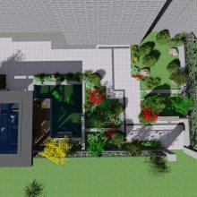 沈阳高端别墅庭院花园设计施工