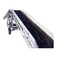 液压升降输送机厂家推荐 带挡板斜坡皮带输送机