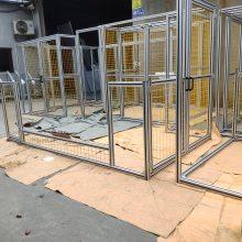江浙沪焊接机器人围栏 铝型材防弧光围栏 工厂车间围栏高端定制