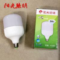 阳光照明光霸30W40W大功率阳光LED球泡灯超亮工矿LED螺口家用灯泡