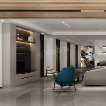 万科17英里别墅设计,蔡家双拼别墅现代极简风格设计,北碚天古装饰