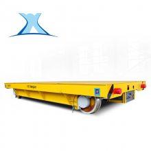 蓄电池大型电动平板车十吨钢厂运输轨道平板车_百特智能