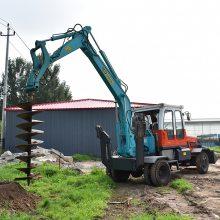 卓远挖机加装钻坑机液压钻孔机水泥杆钻孔机挖机打眼机
