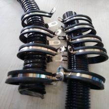 社旗县生产Φ35R型金属包胶线夹304包胶线束卡子橡胶减震管夹