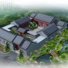 四合院别墅设计图、农村小型四合院设计效果图及施工图,传统中式