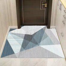 阳台热转印地毯厂家 水晶绒地毯定制