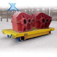 百特智能厂区转运低压轨道供电搬运钢管低压电动平车