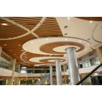 广州番禺亚运城售楼部拉弯弧形铝方通吊顶 安装效果图