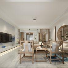 泰安300平米中式禅意别墅装修设计
