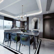 龙湖揽镜大平层装修案例效果图,九里晴川洋房设计方案,渝北天古装饰