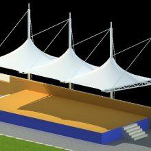 河北运动场看台挑棚,体育场主席台顶棚,体育场观礼台雨棚
