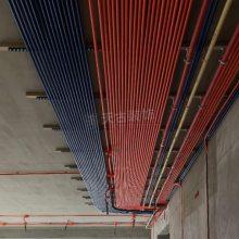 金科九曲河隐蔽工程装修现场,九曲河380平米大平层装修在建工地