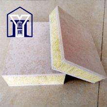 定制1.2*2.44幕墙硅酸钙岩棉芯材复合板 A级岩棉防火 隔热 保温板