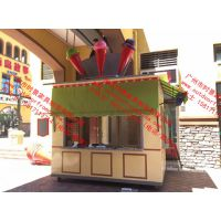 英式马车轮小商品工艺品家居用品零售花车 户外欧式售卖花车厂家