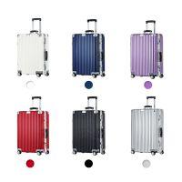 易贝箱包直角复古铝框拉杆箱logo定制 TSA海关密码锁旅行箱做图案 登机箱行李箱批发厂家