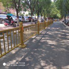 市政栏杆 道路护栏 蓝白道路隔离栏 交通护栏 人行横道栏杆 安装方便 ***