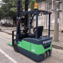 转让三支点丰田1.5吨电动叉车价格优惠 升高3.7米丰田电瓶叉车免费送货