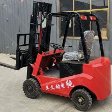 电瓶式货物装卸车 迷你型四轮电动叉车 无污染电动叉车生产厂家
