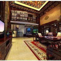 中式典雅韵致铝合金隔断屏风窗花设计装修