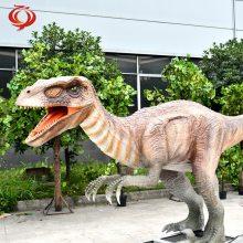 迅猛龙 大型仿真电动恐龙模型 恐龙主题公园游乐设施设备制作厂家