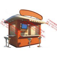 奶茶售卖亭,商业街移动餐饮花车,广场摊位小卖部