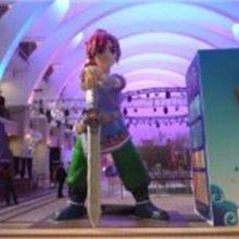 玻璃钢剑侠客人物雕塑,玻璃钢剑侠客卡通雕塑,玻璃钢人物雕塑