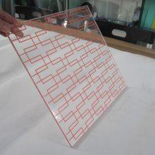 钢化玻璃丝印触控面板 镀膜玻璃面板 彩晶玻璃 玻璃制品定制加工