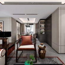 龙湖景粼玖序115户型改造方案|洋房新中式风格传统时尚设计效果图