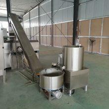 荞麦锅巴苦荞丝油炸食品生产线,酱油饼膨化机原理结构