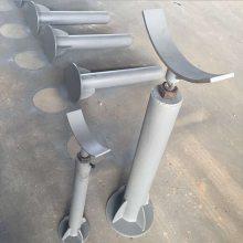 可调节高度管线阀门支撑架 高度可调支撑架 螺纹调节支座