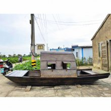 木船厂家定制古镇旅游美人打伞表演特色乌篷道具船可配蓑衣