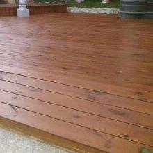 菠萝格地板平台户外田园风格柚木亲水平台实木地板施工南京防腐木厂家