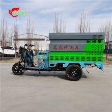 新能源电动三轮高压清洗车小型道路广告垃圾桶物业小区冲洗洒水车