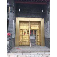 西安豪华别墅铜门制造厂 西安工艺铜门批发 宝鸡合页铜门价格