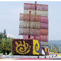 定制成都仿真植物雕塑厂家直销 假草坪动物绿雕,大型仿真植物绿雕