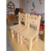 实木椅子幼儿园 幼儿园桌椅 儿童靠背椅笑脸椅子 儿童实木椅子