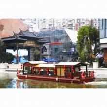 江苏文旅船舶厂家设计订做水上观光画舫船可选择不同材质动力配置