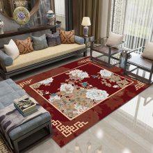 水晶绒印花地毯定制 彩色印花进门阳台飘窗简约水晶绒3d地垫