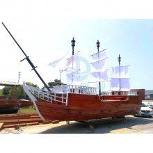 JD-HD001美陈道具厂家设计定制防腐木带帆的加勒比风格海盗船