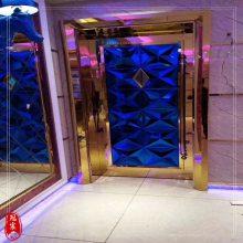 定制防火隔音酒吧练歌房足疗软包硬包发光电影院不锈钢包厢门