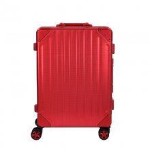 20寸小圆点纹铝框拉杆箱 全铝镁合金行李箱 定制万向轮登机箱 铝合金旅行箱