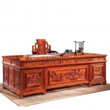 广东红木品牌办公家具 刺猬紫檀2.6米办公桌台全国五折销售