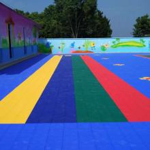 天津悬浮拼装地板/幼儿园悬浮式拼装地板/欧宝瑞现货供应