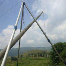 昆明经销 12米三角架立杆机 电杆立杆器 水泥杆立杆机 钻通电力