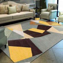 水晶绒印花地毯定制 家用脚垫地毯水晶绒可定制铺满地毯