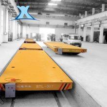 百特搬运遥控牵引仓储轨道车 电动板车转运钢包水轨道 牵引小车