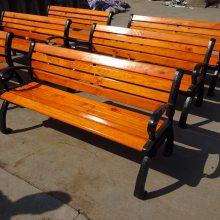河南公园休息椅厂家 小区户外防腐木休闲椅子1.2/1.5m厂家批发