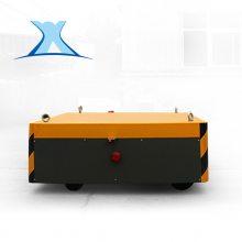 运输管材滑触线取电胶轮转向运输管材大吨位柴油机牵引发电电动平板车30T
